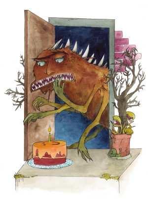 small birthday monster