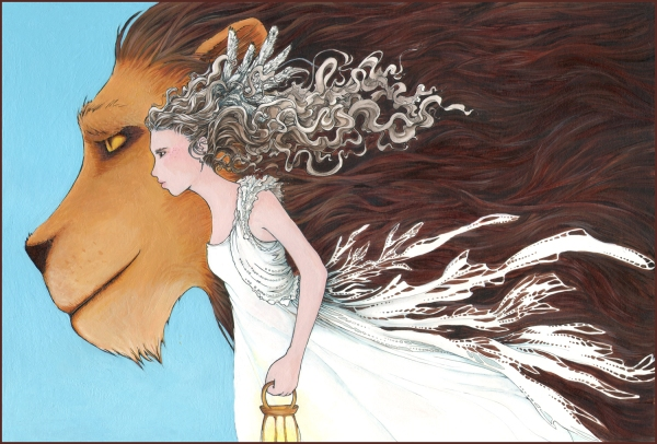 Lady and the lion